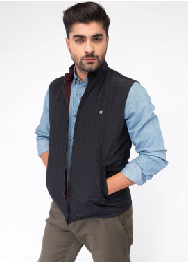 Brumano Polyester Sleeveless Men Reversible Jackets - Black BRM-13-1001