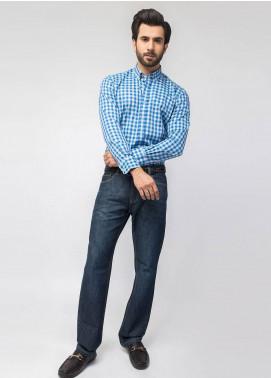 Brumano Cotton Formal Men Shirts   Blue BRM 448