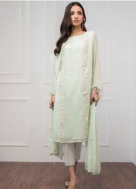 Sheep Casual Chiffon Stitched 2 Piece Suit SH20CR BS300900 MINT