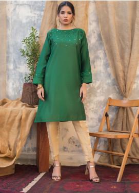 Sheep Casual Khaadi Net Stitched Kurtis SH20CR SC100433 Emerld Green