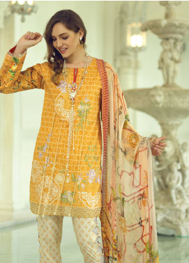 Rang Rasiya Carnation Embroidered Lawn Unstitched 3 Piece Suit RRC19L 704A - Spring / Summer Collection
