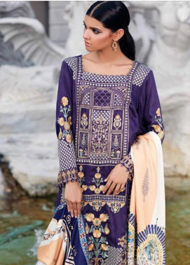 CASHMERE by Charizma Embroidered Viscose Unstitched 3 Piece Suit CRZ19CM 11 - Winter Collection