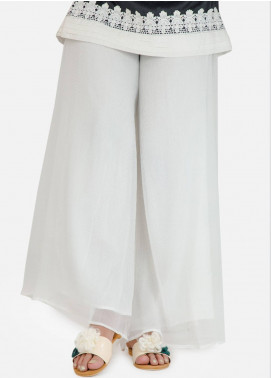Change Plain Texture Stitched Trousers CH18K CLP114 White