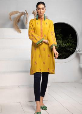 Takhleek By Hijab Omer Embroidered Karandi Stitched Kurties TK20CH TS-012