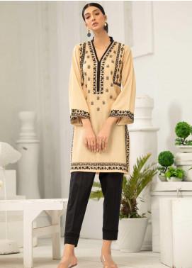 Takhleek By Hijab Omer Embroidered Karandi Stitched Kurties TK20CH TS-015