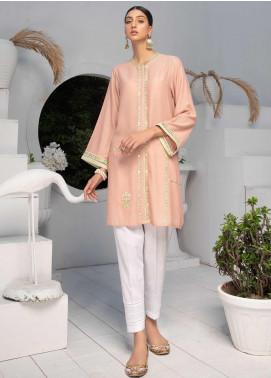 Takhleek By Hijab Omer Embroidered Karandi Stitched Kurties TK20CH TS-016