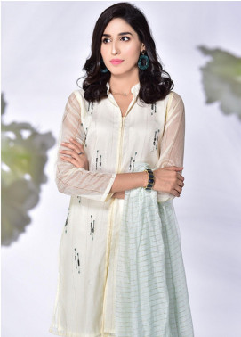 Change Embroidered Khaadi Net Stitched 3 Piece Suit CK2170