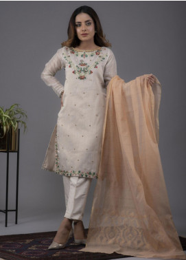 Change Embroidered Cotton Stitched 3 Piece Suit CK2171