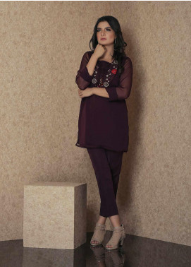 Change Embroidered Plum Stitched 2 Piece Suit CK2305 Black