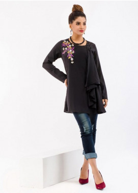 Change Embroidered Crepe Stitched Kurtis CW1804