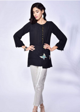 Change Embroidered Crepe Stitched Kurtis CW1827