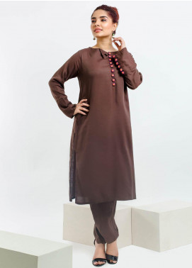Change Embroidered Georgette Stitched 2 Piece Suit CB-83 Brown