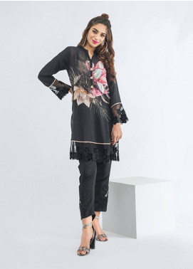 Change Embroidered Georgette Stitched Kurtis CK-2106 Black