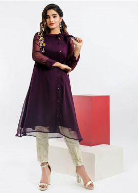 Change Embroidered Chiffon Stitched Kurtis CK2165 Mix