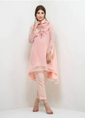 Change Embroidered Chiffon Stitched 3 Piece Suit CK2176 Pink
