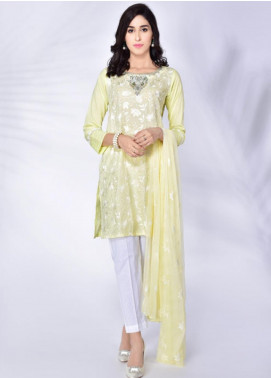 Change Embroidered Cotton Stitched 3 Piece Suit CK2208 yellow