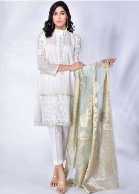 Change Embroidered Khaadi Net Stitched 3 Piece Suit CK2172