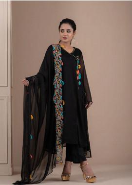 Change Formal Chiffon Stitched 2 Piece Suit CK2230 Black