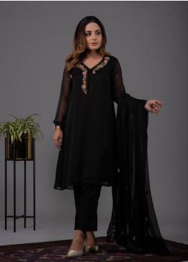 Change Formal Chiffon Stitched 2 Piece Suit CK2252 Black