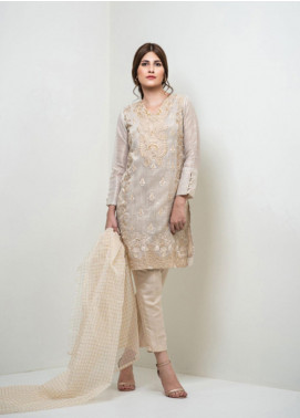 Change Embroidered Organza Stitched 3 Piece Suit ECH111