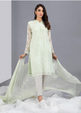 Change Embroidered Chiffon Stitched 2 Piece Suits CK2328 Mint Green