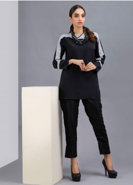 Change Fancy Crepe Stitched Kurties CW1884 Black