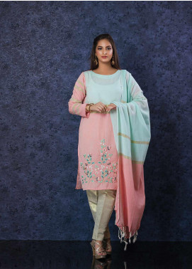 Change Embroidered Cotton Net Stitched 2 Piece Suit CK-2201 LT Green