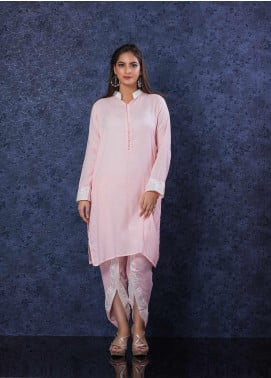 Change Plain Cotton Stitched 2 Piece Suit CW-1864 Pink