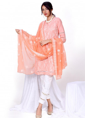 Change Embroidered Chikankari Stitched 2 Piece Ladies 2pc Suit CK2270 Tea pink-S