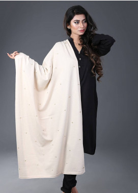 Change  Acrylic Embroidered Shawl RD6-Beige - Winter Collection
