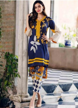 Charizma Embroidered Lawn Unstitched 2 Piece Suit CRZ19BE 02 - Mid Summer Collection