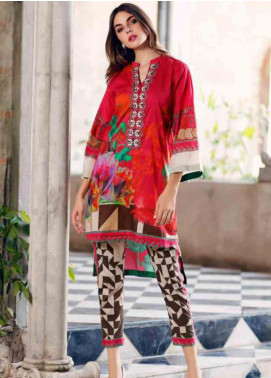 Charizma Embroidered Lawn Unstitched 2 Piece Suit CRZ19BE 04 - Mid Summer Collection
