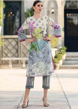 Charizma Embroidered Lawn Unstitched 2 Piece Suit CRZ19BE 06 - Mid Summer Collection
