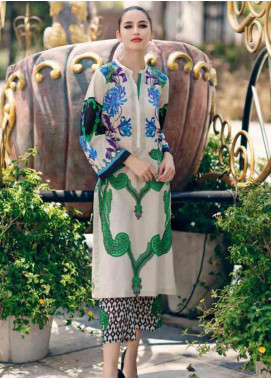 Charizma Embroidered Lawn Unstitched 2 Piece Suit CRZ19BE 07 - Mid Summer Collection