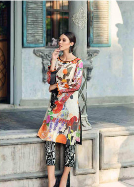 Charizma Embroidered Lawn Unstitched 2 Piece Suit CRZ19BE 08 - Mid Summer Collection