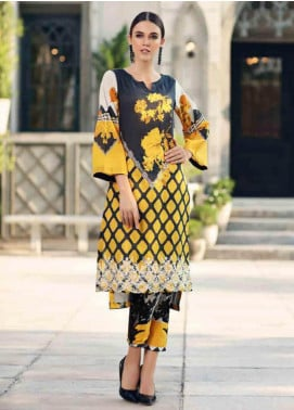 Charizma Embroidered Lawn Unstitched 2 Piece Suit CRZ19BE 10 - Mid Summer Collection