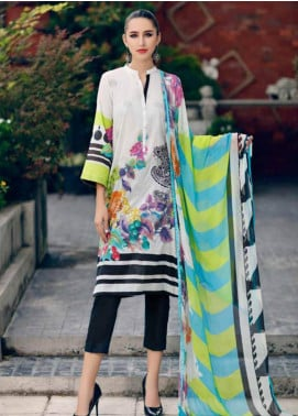 Charizma Embroidered Lawn Unstitched 3 Piece Suit CRZ19BW 10 - Black And White Collection