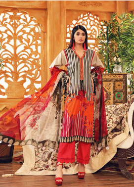 Charizma Printed Lawn Unstitched 3 Piece Suit CRZ20-CP2 19 CITY RED-VIVAL - Summer Collection