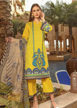 Charizma Printed Lawn Unstitched 3 Piece Suit CRZ20CP 06 Golden Hour - Spring / Summer Collection