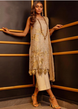 Charizma Embroidered Chiffon Unstitched 3 Piece Suit CRZ19-C4 22 - Luxury Collection