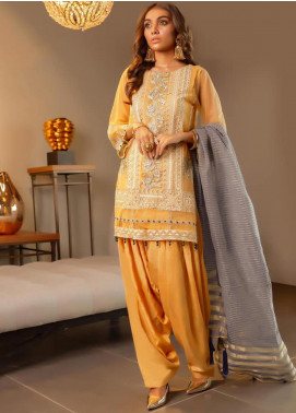 Charizma Embroidered Chiffon Unstitched 3 Piece Suit CRZ19-C4 25 - Luxury Collection
