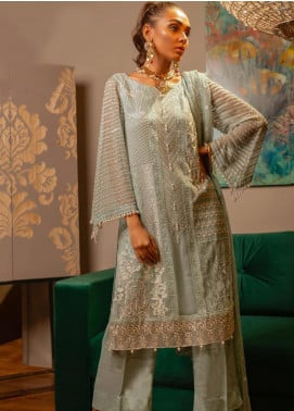 Charizma Embroidered Chiffon Unstitched 3 Piece Suit CRZ19-C4 26 - Luxury Collection