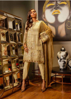 Charizma Embroidered Chiffon Unstitched 3 Piece Suit CRZ19-C4 27 - Luxury Collection