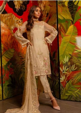 Charizma Embroidered Organza Unstitched 3 Piece Suit CRZ19-C4 29 - Luxury Collection