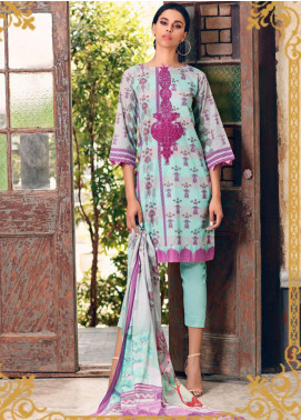 Combinations by Charizma Embroidered Lawn Unstitched 3 Piece Suit CRZ20CL-19 - Summer Collection