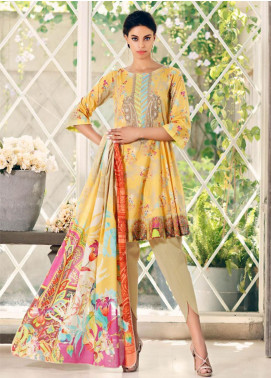 Combinations by Charizma Embroidered Lawn Unstitched 3 Piece Suit CRZ20CL-25 - Summer Collection