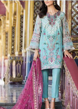 Diamond Dust by Charizma Embroidered Organza Unstitched 3 Piece Suit CRZ20DD 003 - Premium Collection