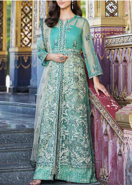 Diamond Dust by Charizma Embroidered Organza Unstitched 3 Piece Suit CRZ20DD 005 - Premium Collection