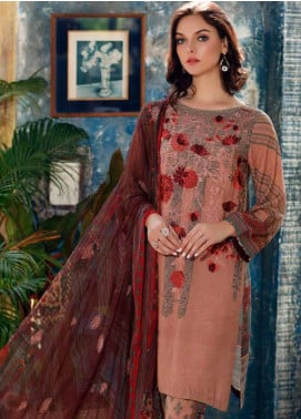 Charizma Embroidered Karandi Unstitched 3 Piece Suit CRZ20K 04 - Winter Collection