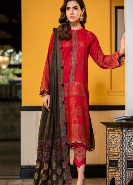 An Evening Affair by Charizma Embroidered Leather Unstitched 3 Piece Suit CRZ20SF 03 Lovers Knot - Winter Collection